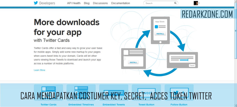 Cara Mendapatkan Consumer Key & Acces Token Twitter   Redarkzone.com