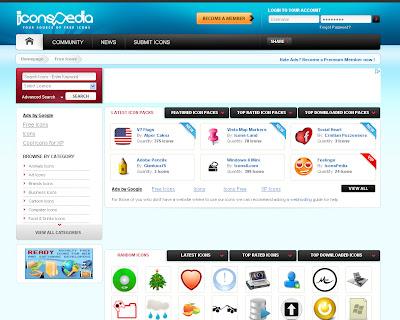 Iconspedia: buscador de iconos gratis