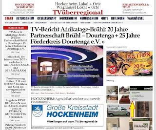 TV-Bericht Afrikatage-Brühl: 20 Jahre Partnerschaft Brühl – Dourtenga + 25 Jahre Förderkreis Dourtenga e.V.  http://tvueberregional.de/tv-bericht-afrikatage-bruehl-20-jahre-partnerschaft-bruehl-dourtenga-25-jahre-foerderkreis-dourtenga-e-v/
