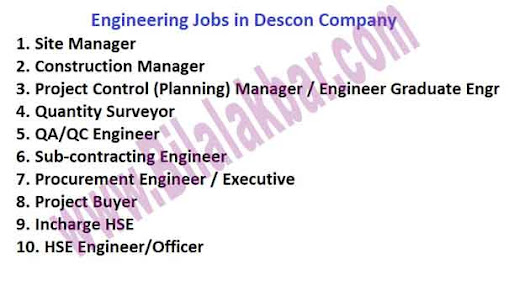 Engineering Jobs in Descon Company (Construction Division) last date 24 Feb 2017