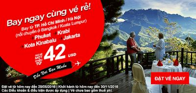 Bay ngay cùng vé rẻ Air Asia giá từ 42 usd