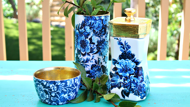 Blue and White Jar Makeover