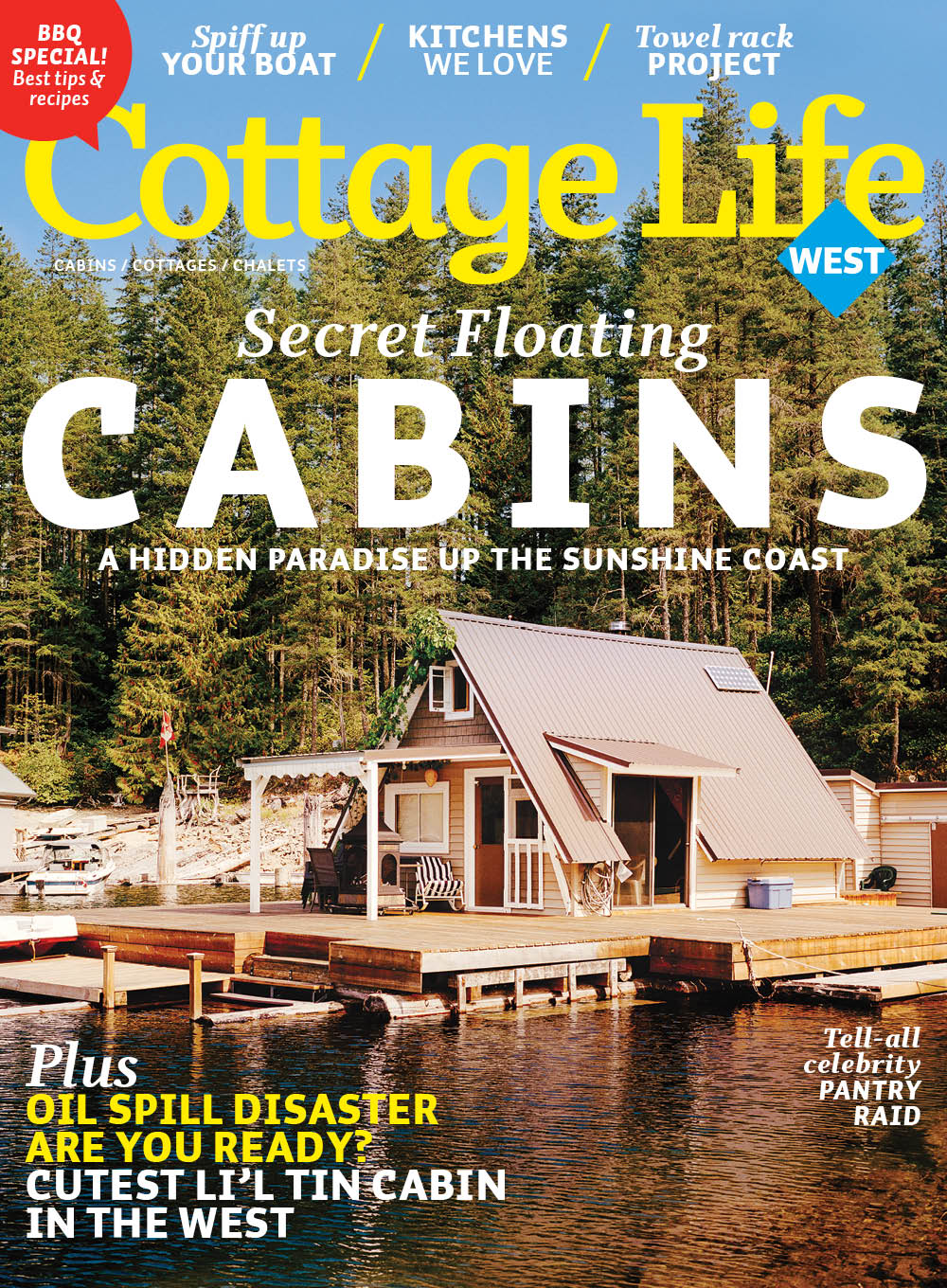Wayne And I Enjoy Sharing About Off The Grid Float Cabin Living On Powell  Lake, Here In Coastal BC. This Month, We Were Included In An Article About  Float ...