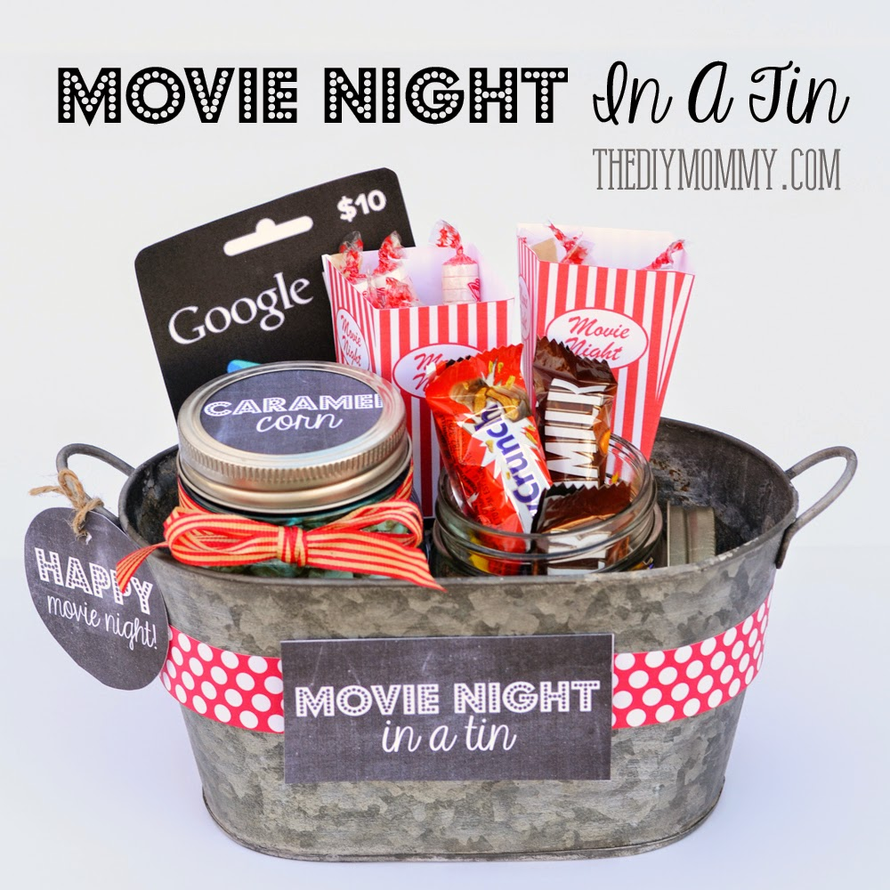 Cute tin for movie lovers
