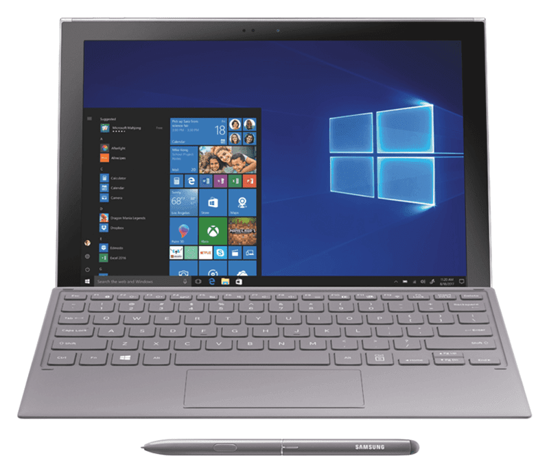 It also has an S Pen and detachable keyboard included