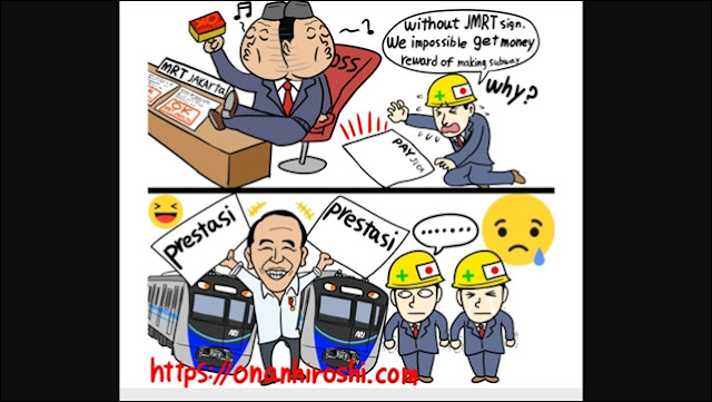 Viral Komik Jepang Sindir Jokowi Pamer Prestasi tapi Utang Proyek MRT Tak Kunjung Dibayar