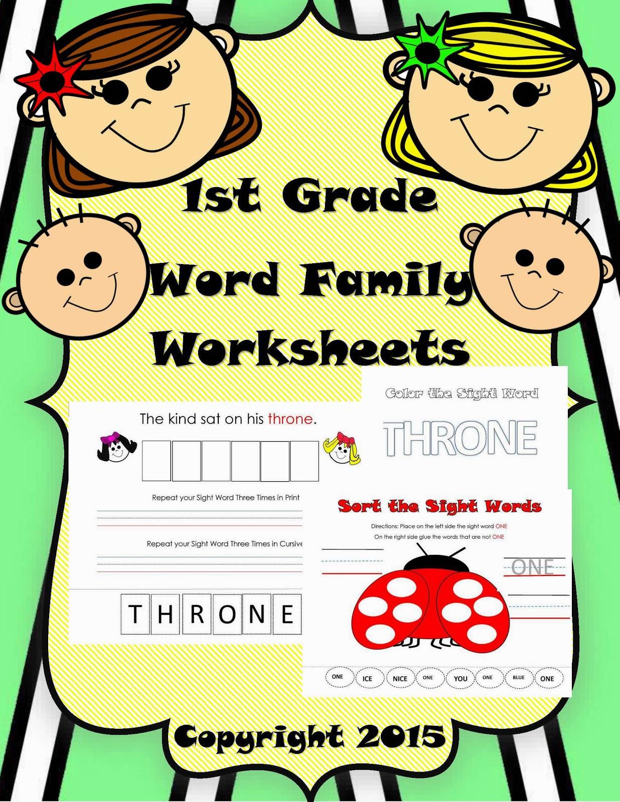The Hermit Crabs Homeschool 1st Grade Word Family