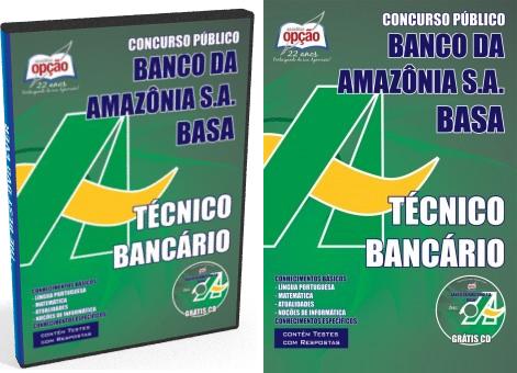 Apostila Banco da Amazônia 2018 Técnico Bancário