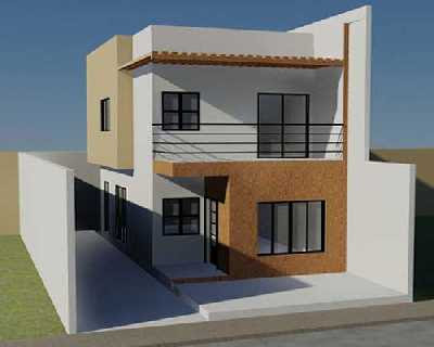 Modern Minimalist Design House alongside two Floors