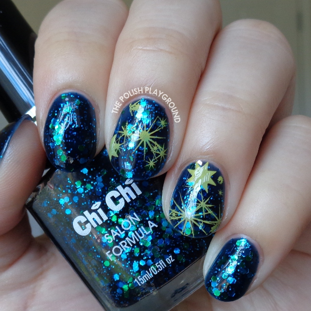 Abstract Galaxy Inspired Stamping Nail Art