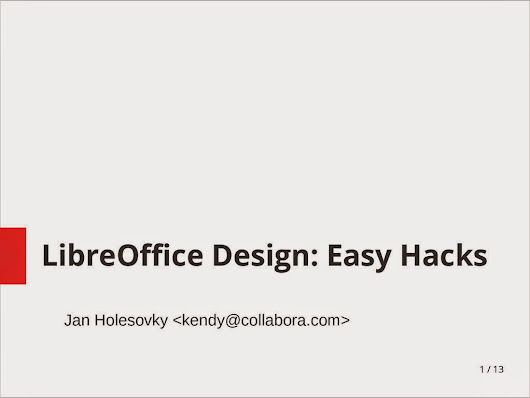 LibreOffice Design: Easy Hacks