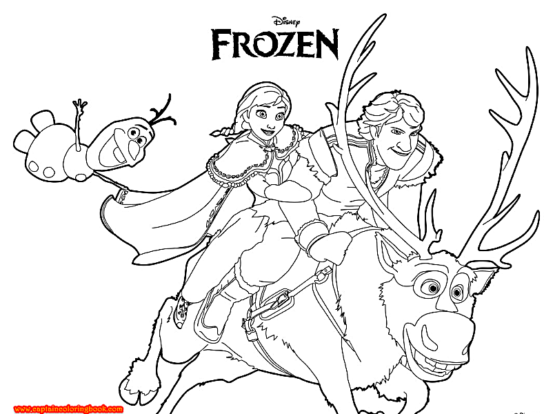 Frozen coloring pages Free Download Coloring Page