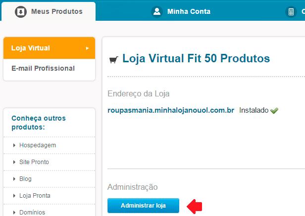 como montar loja virtual uol host