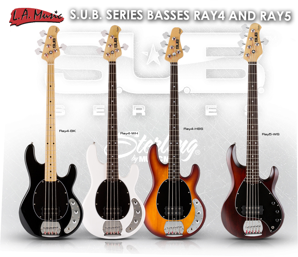 sterling by music man new s u b series basses l a music network. Black Bedroom Furniture Sets. Home Design Ideas
