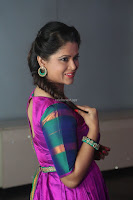 Shilpa Chakravarthy in Purple tight Ethnic Dress ~  Exclusive Celebrities Galleries 010.JPG
