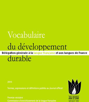 Vocabulaire du développement durable PDF