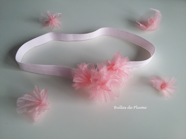 Bulles de Plume - DIY Bandeau fleurs organza