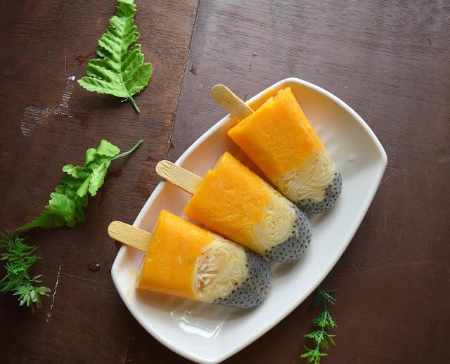 mango falooda popsicle