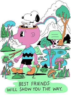 Peanuts Best Friends Print by Jeremyville x Dark Hall Mansion