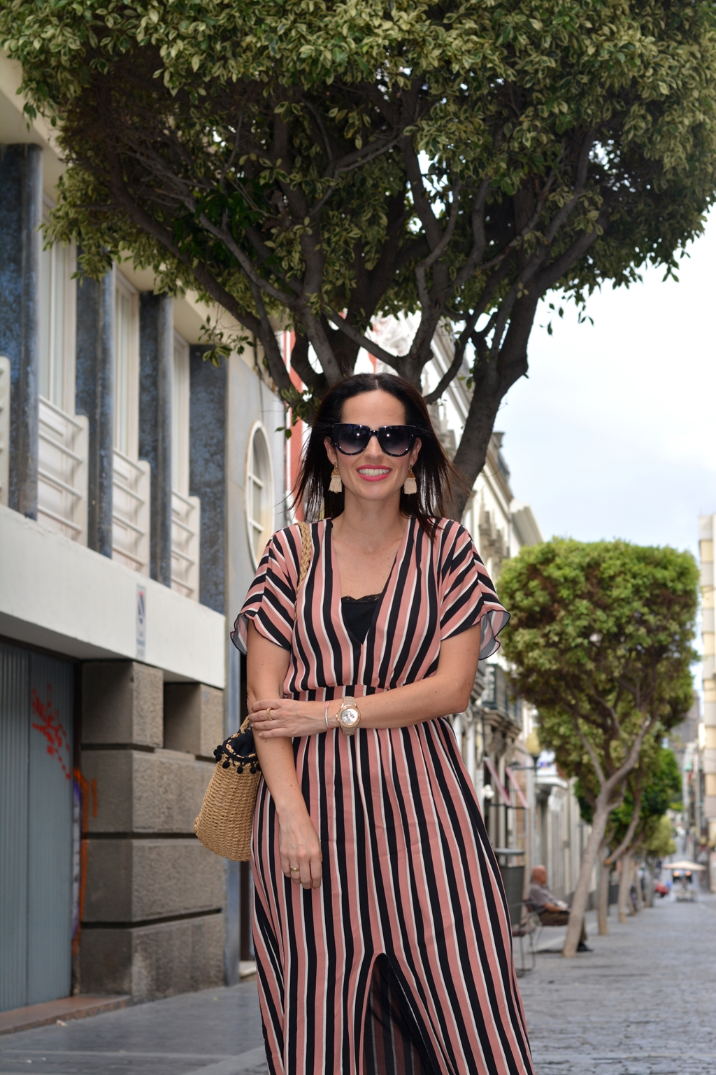 zara-striped-midi-dress-look-outfit