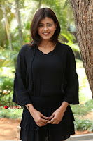 Actress Hebah Patel Stills in Black Mini Dress at Angel Movie Teaser Launch  0126.JPG