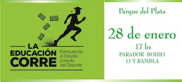 10k 5k y rollers La educación corre en Parque del Plata (Canelones, 28/ene/2018)