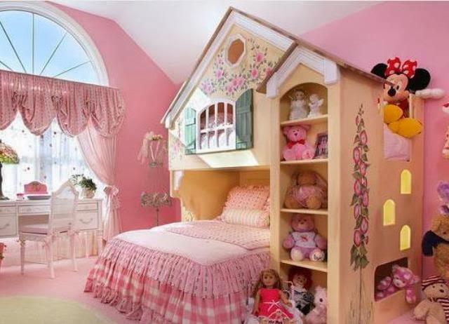 Desain Kamar Tidur Cute Untuk Anak Perempuan