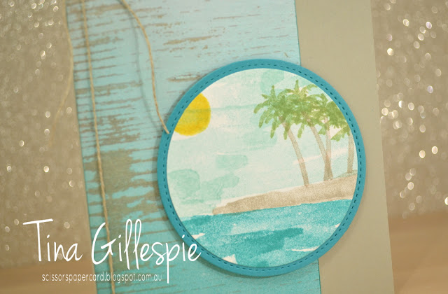 scissorspapercard, Stampin' Up!, Art With Heart, Waterfront, Wood Textures DSP, Stitched Shapes Framelits