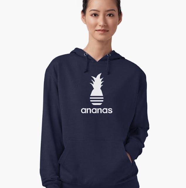 White Ananas logo parody hoodies