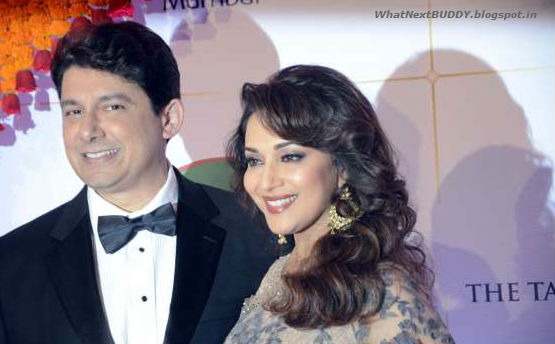 beautiful madhuri dixit with husband