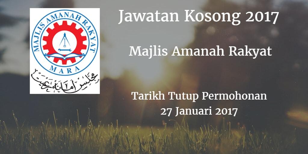 Jawatan Kosong MARA 27 Januari 2017