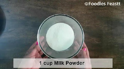 Instant khoya using milk powder