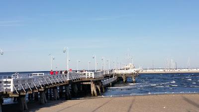 Sea-bridge in Sopot, a maritime suburb of Gdańsk