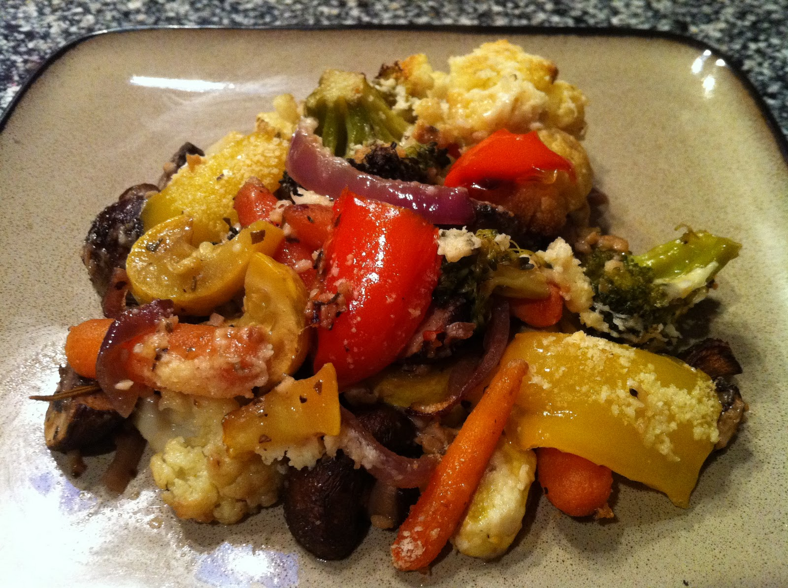 Garlic Rosemary Oven Roasted Vegetables With Parmesan Peace Love