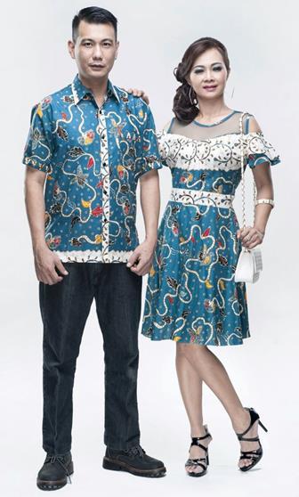 Model Baju Batik Couple Kombinasi Terbaru