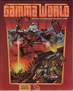 Cover of Gamma World (second edition), a role-playing game published by TSR.