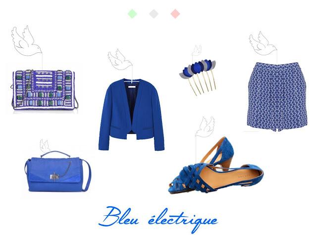 mode printemps été bleu
