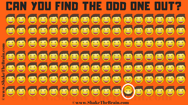 Answer of Odd One Out Picture Puzzle