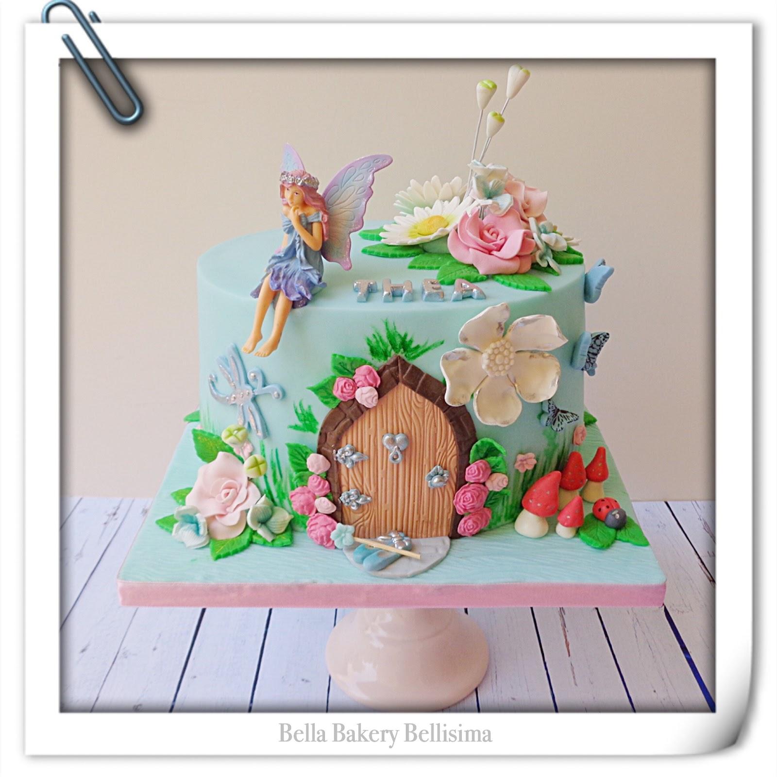 Magical fairy door cake for Batman fairy door