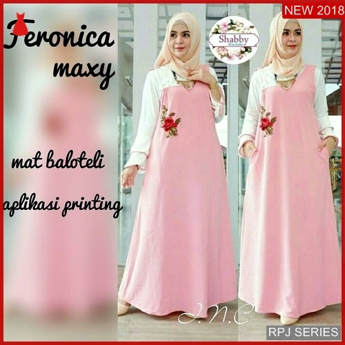 RPJ223D172 Model Dress Feronica Cantik Maxy Wanita