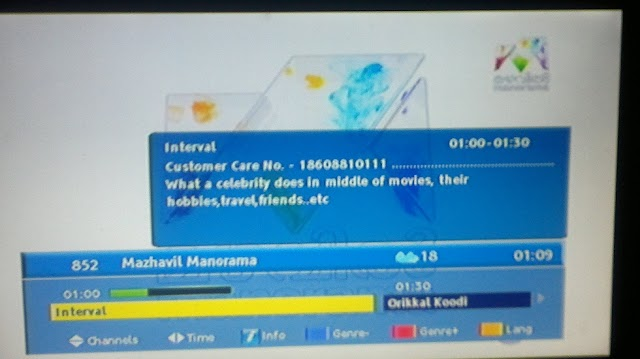 Breaking News - Mazhvail Manorama added on Videocon D2H
