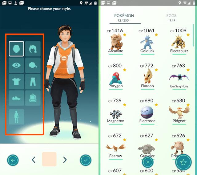 Tampilan Baru Pokémon GO versi 0.31.0