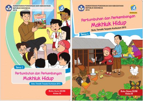 Buku Kelas 3 Kurikulum 2013 Revisi 2018 Tema 1 Pertumbuhan dan Perkembangan Makhluk Hidup