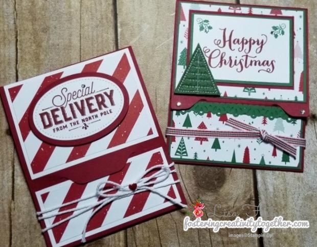 Christmas gift card holder envelope punch board