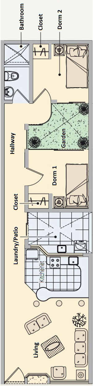 1 Bedroom Studio Apartment Plans