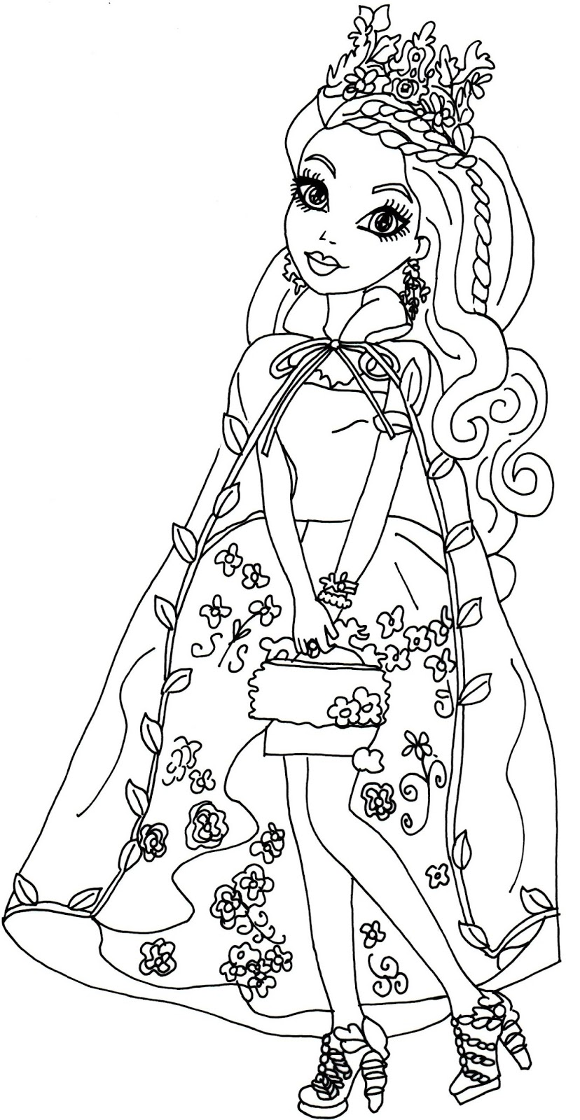 free printable ever after high coloring pages ashlynn