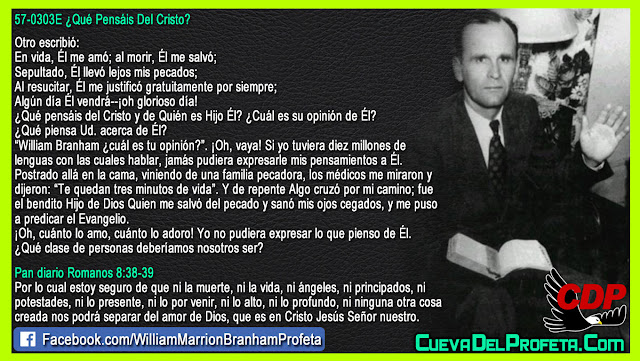 La Opinion de William Branham Sobre Cristo