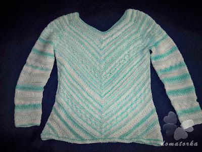 Ażurowy sweter cz. 2