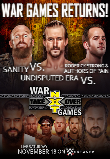 WWE NXT TakeOver WarGames 2017 PPV Episode Free Download