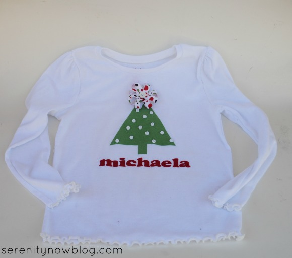 DIY Christmas Tree Shirt, from Serenity Now